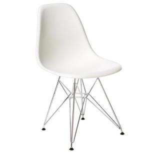Design kinderstoel wit op verchroomd onderstel alles for Design stoel wit